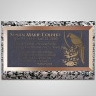 Parrot Bronze Plaque