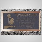 Tropical Island Bronze Plaque