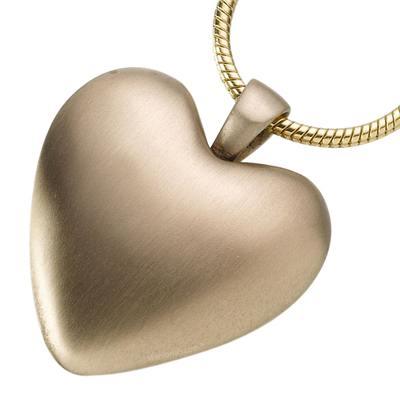 Bronze Heart Keepsake Pendant