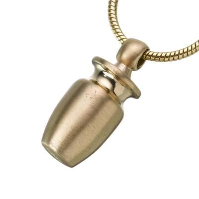 Urn Vessel Cylinder Cremation Pendant IV