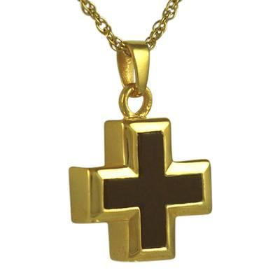 Onyx Mini Cross Keepsake Pendant II