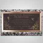 Garden of Eden Bronze Plaque
