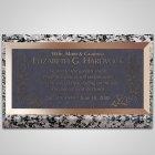 Wild Flowers Bronze Plaque