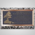Bonsai Tree Bronze Plaque