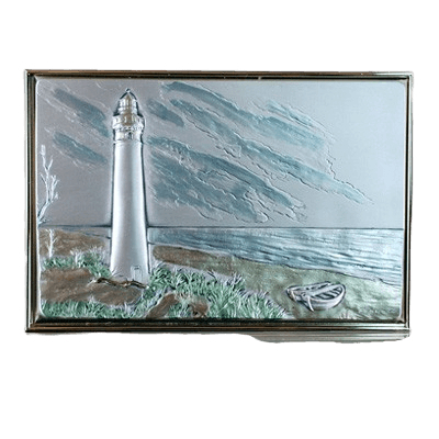 Lighthouse Silver Medallion Appliques