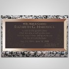 Serenity Flowers Bronze Plaque