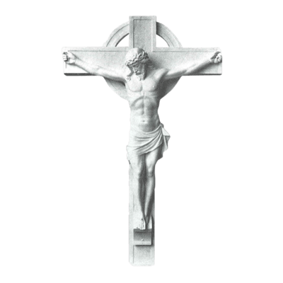 Classic Crucifixion Marble Statue