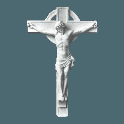 Classic Crucifixion Granite Statue
