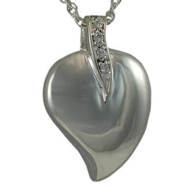 Indented Heart Keepsake Pendant