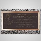 Single Flower Bronze Plaque