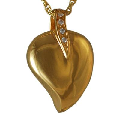 Indented Heart Keepsake Pendant IV