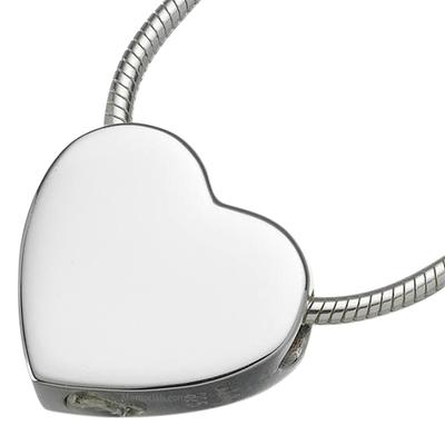 Slider Heart Keepsake Pendant
