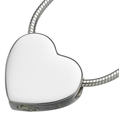Slider Companion Heart Keepsake Pendant