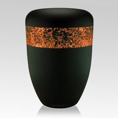 Speckled Orange Biodegradable Urn