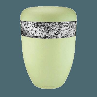Snakeskin White Biodegradable Urn