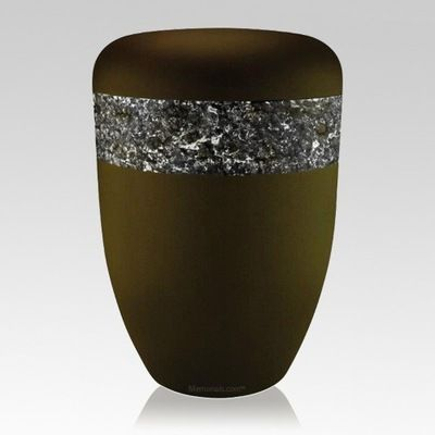 Crystal Black Biodegradable Urn