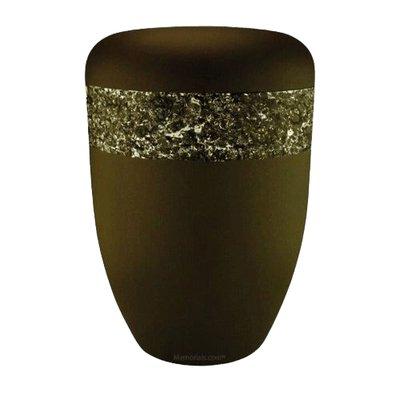 Crystal Brown Biodegradable Urn