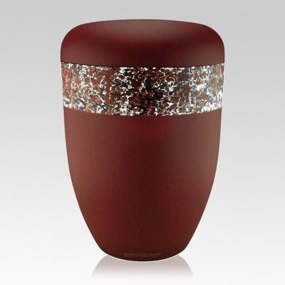 Scarlet White Biodegradable Urn