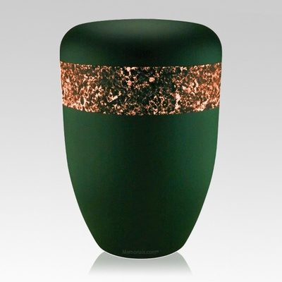 Emerald Orange Biodegradable Urn