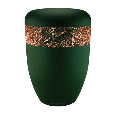 Emerald Orange Biodegradable Urn