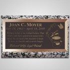 Gardening Bronze Plaque