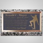 Skateboarding Bronze Plaque