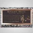 Music Notes Bronze Plaque