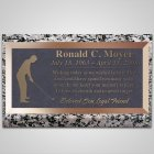 Tee Off Bronze Plaque