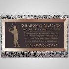 Golfing Woman Bronze Plaque