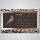 Mountain Climber Bronze Plaque