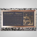Fisherman Bronze Plaque