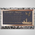 Boat Fishing Bronze Plaque