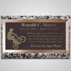 Wheelie Bronze Plaque