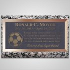 Soccer Ball Bronze Plaque