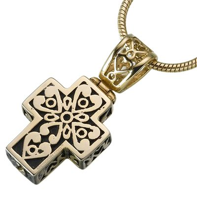 Filigree Cross Cremation Jewelry IV