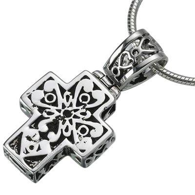 Filigree Cross Cremation Jewelry III