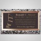 Sailboat Bronze Plaque