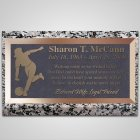 Woman Bowler Bronze Plaque