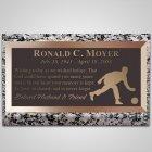 Man Bowler Bronze Plaque