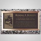 Elk Bronze Plaque