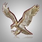 Eagle Bright Gold Medallion Appliques