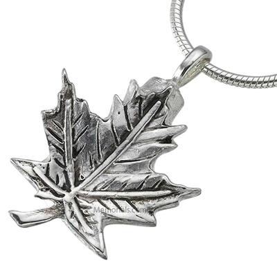 Maple Leaf Keepsake Pendant