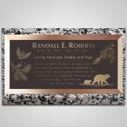 Pine Cones Bronze Plaque