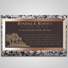 Ranching Bronze Plaque