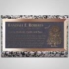 Large Oak Bronze Plaque