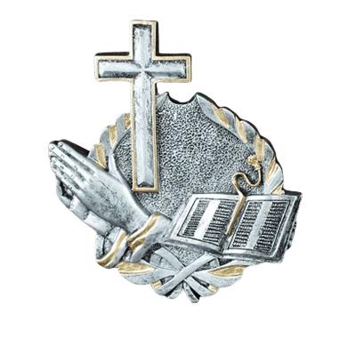Faith Silver Medallion Appliques