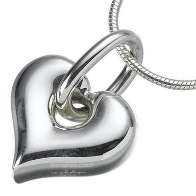 Loop Heart Keepsake Pendant