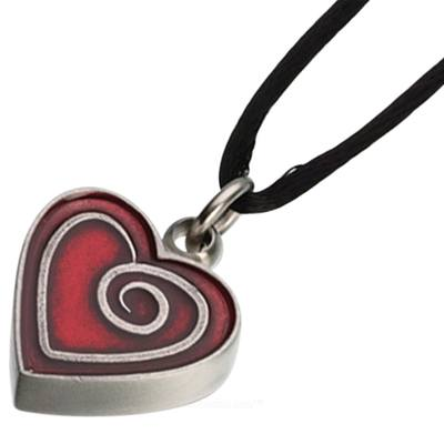 Red Heart Keepsake Pendant