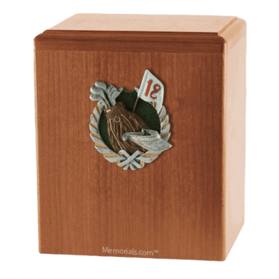 18th Hole Light Cherry Cremation Urn