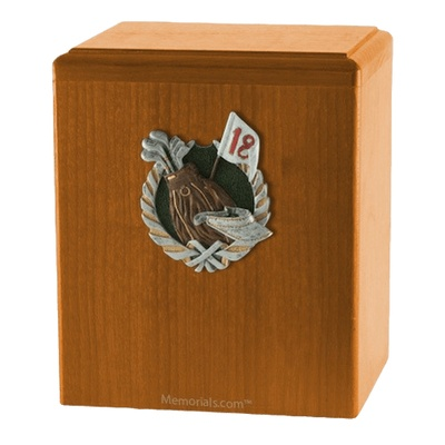 18th Hole Oak Cremation Urn
